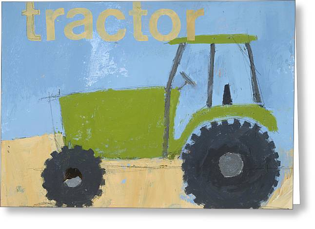 Tractor Prints Greeting Cards - Tractor Greeting Card by Laurie Breen
