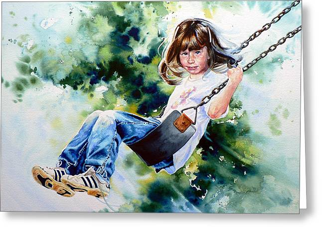 Action Sports Prints Greeting Cards - Tracy Greeting Card by Hanne Lore Koehler