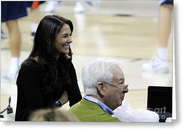 Tracy Hall Greeting Cards - Tracy Wolfson Bill Raftery i  Greeting Card by Robert Yaeger