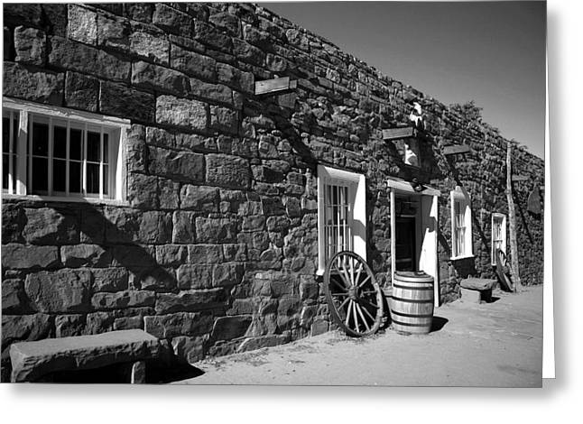 Trading Post Greeting Card by Timothy Johnson