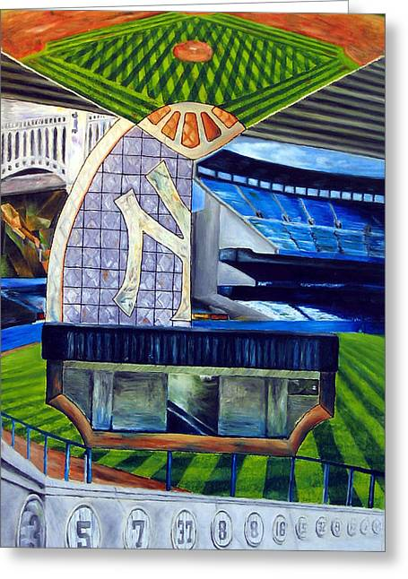 New York Stadiums Drawings Greeting Cards - Tradition Greeting Card by Chris Ripley