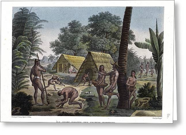 Traditional Customs Of The Chamorro Classes Greeting Card by d Apres A Pellion