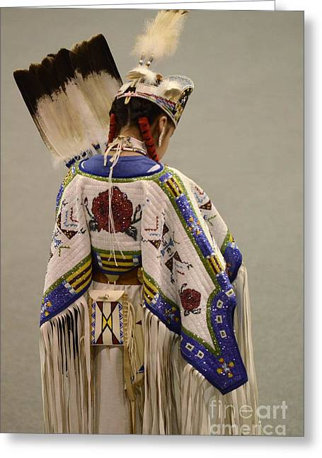 Pow Wow Traditional Dancer 1 Greeting Card by Bob Christopher