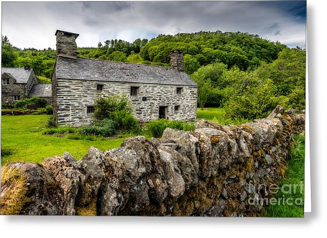 Architecture Digital Greeting Cards - Traditional Farmhouse Greeting Card by Adrian Evans