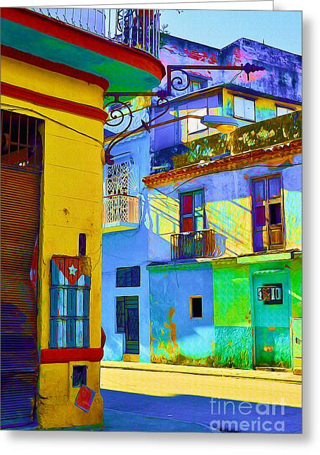 Old Door Mixed Media Greeting Cards - Traditional Havana Greeting Card by Chris Andruskiewicz