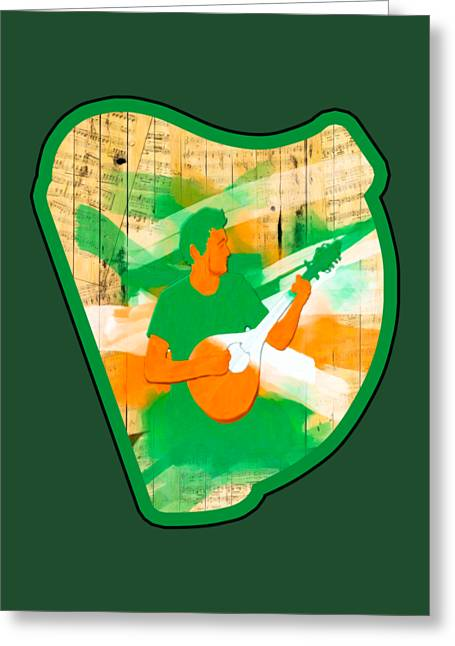 Playing Musical Instruments Digital Greeting Cards - Traditional Irish Music Celebrated Greeting Card by Mark E Tisdale