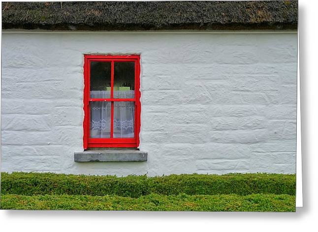 Thatch Greeting Cards - Traditional Irish Thatch cottage Greeting Card by Patrick Dinneen