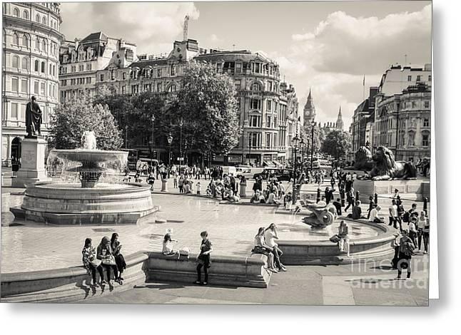 Londoners Greeting Cards - Trafalgar Square 5 Greeting Card by Marcin Rogozinski