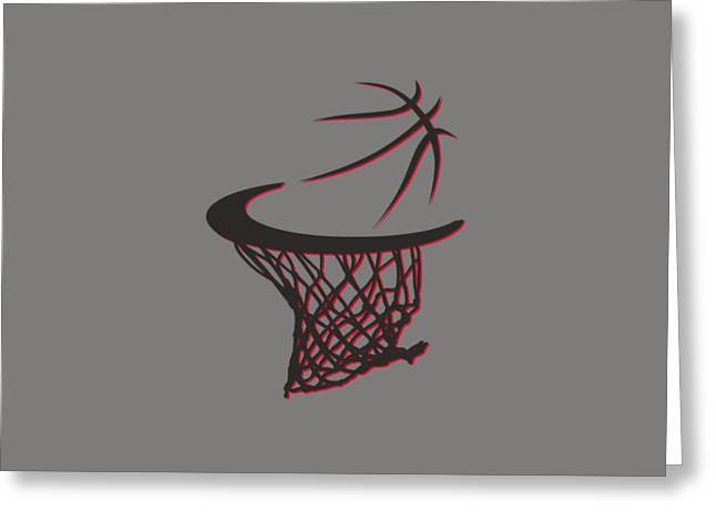 T Shirts Greeting Cards - Trail Blazers Basketball Hoop Greeting Card by Joe Hamilton