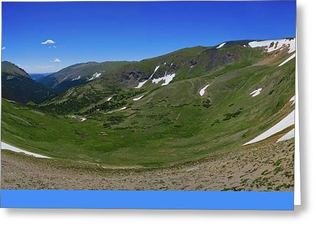 Trail Ridge Cirque Greeting Card by Jon Burch Photography