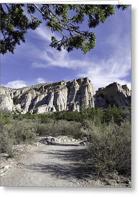 Kasha Katuwe Tent Rocks Greeting Cards - Trail to Tent Rocks Greeting Card by Alan Toepfer