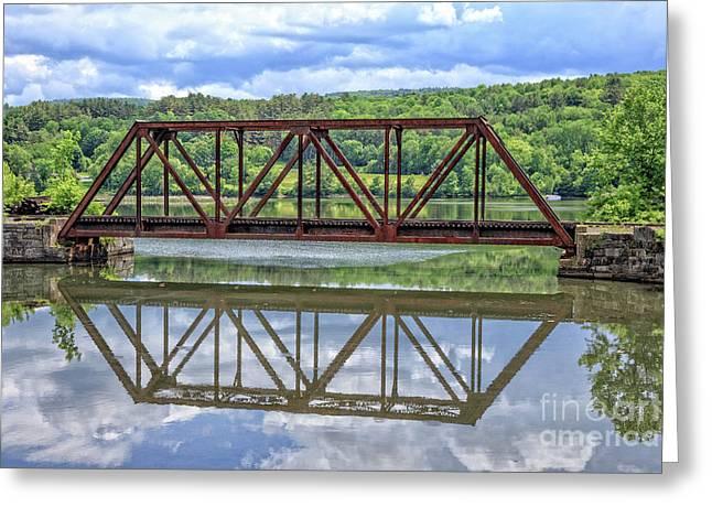 Train Bridge Thetford Vermont Greeting Card by Edward Fielding