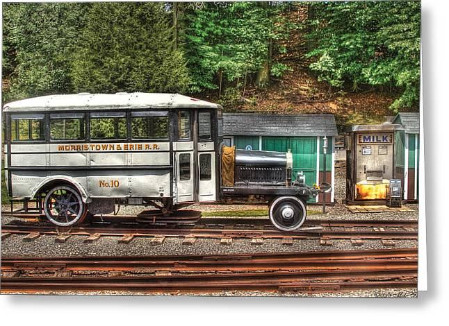 Train - Car - The Rail Bus Greeting Card by Mike Savad