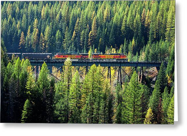 Train Coming Through Greeting Card by Todd Klassy