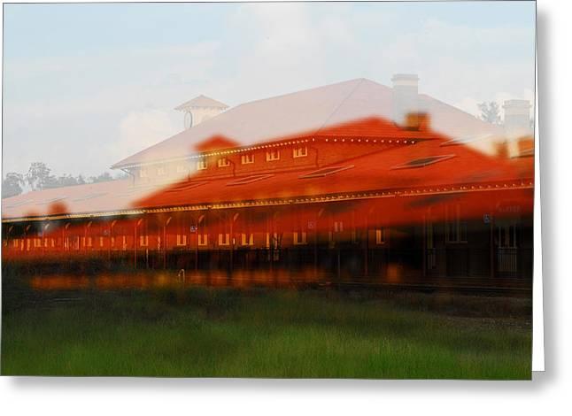Train Depot Greeting Card by Wayne Archer