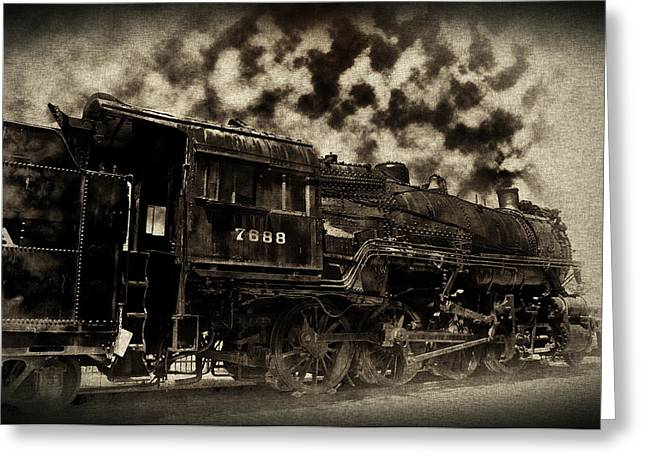 Strasburg Greeting Cards - Train In Vain Greeting Card by Bill Cannon