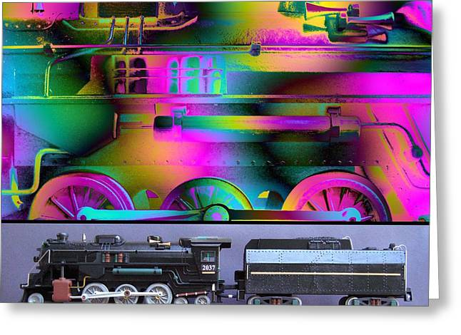 Technical Mixed Media Greeting Cards - Train of Thought Greeting Card by Ken Shotwell