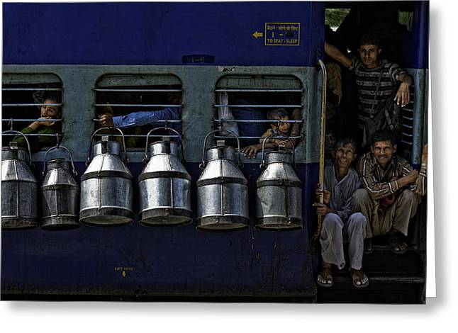 People Greeting Cards - Train Greeting Card by Prateek Dubey