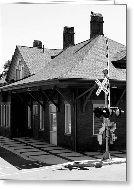 Julian Bralley Greeting Cards - Train Station Greeting Card by Julian Bralley