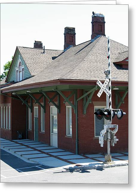 Julian Bralley Greeting Cards - Train Stop Greeting Card by Julian Bralley