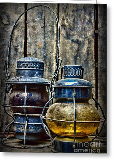 Train - The Railroad Lantern Greeting Card by Paul Ward