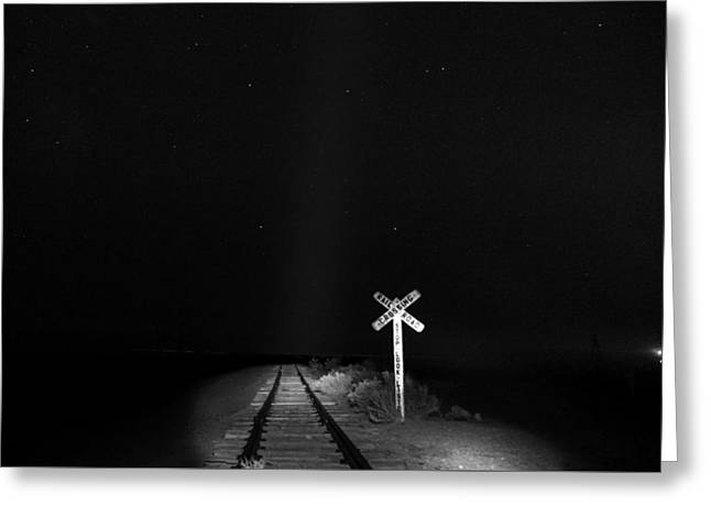 White Photographs Greeting Cards - Train to Nowhere Greeting Card by Cat Connor