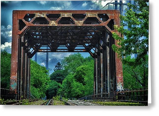 Historic Architecture Greeting Cards - Train Trestle 2 Greeting Card by Todd and candice Dailey