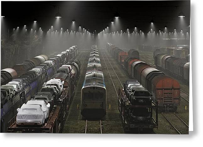 Denmark Greeting Cards - Trainsets Greeting Card by Leif Londal