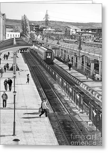 Trainstation Greeting Card by Gabriela Insuratelu
