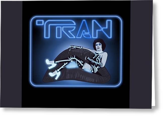 Tron Digital Greeting Cards - Tran Greeting Card by Jason  Wright