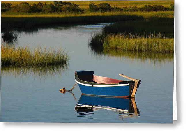 Fishing Creek Greeting Cards - Tranquil Cape Cod Photography Greeting Card by Juergen Roth