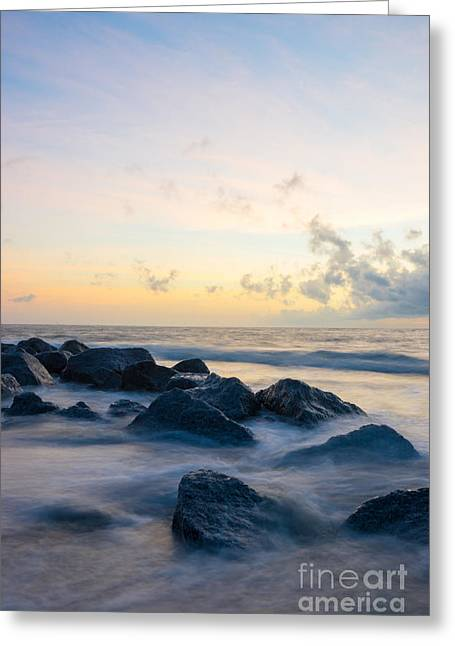 Landscape Framed Prints Greeting Cards - Tranquil Folly Beach Greeting Card by Jennifer White