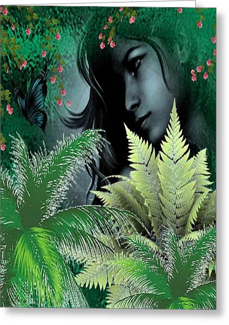 Floral Digital Art Greeting Cards - Tranquil Greeting Card by G Berry