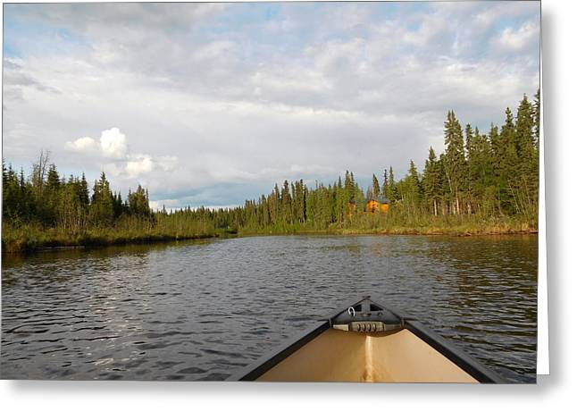 Canoe Photographs Greeting Cards - Tranquil Moment North Pole AK Greeting Card by Diannah Lynch