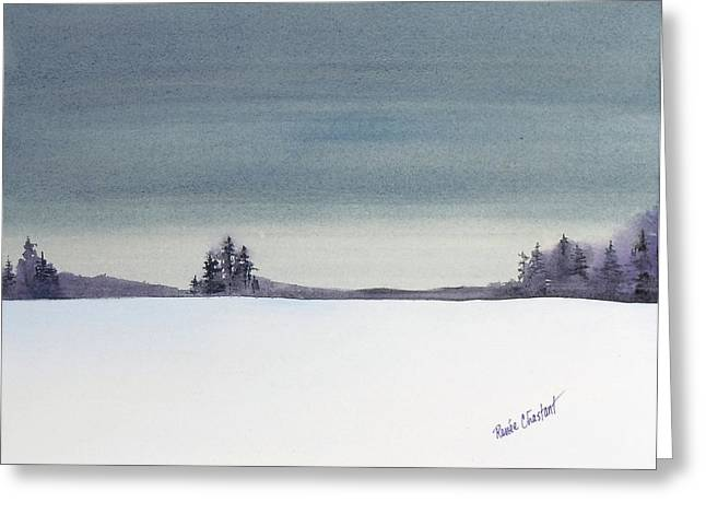 Tranquil Night Greeting Card by Renee Chastant