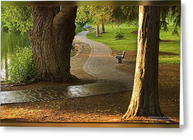 Deschutes River Greeting Cards - Tranquil Path Greeting Card by John Melton