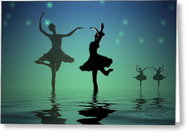 Prima Ballerina Digital Art Greeting Cards - Tranquil Persuasion Greeting Card by Joyce Dickens