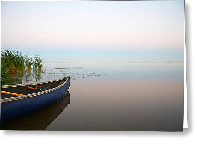 Canoe Photographs Greeting Cards - Tranquil Greeting Card by Theo Tan