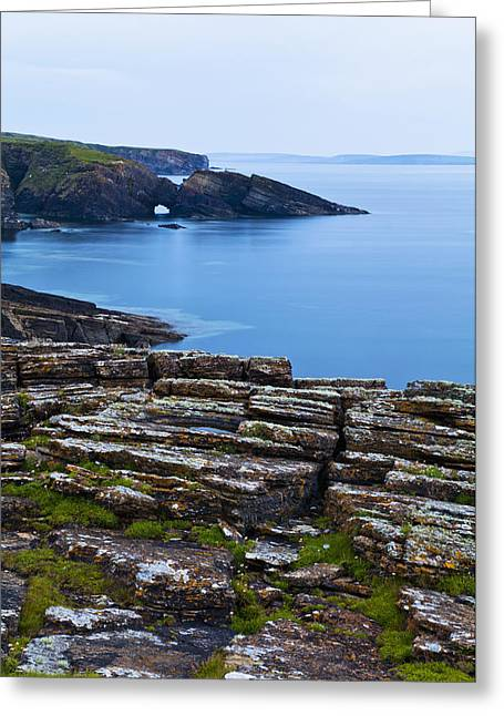 Rugged Cliffs Greeting Cards - Tranquil Water Along The Coastline Greeting Card by Kav Dadfar