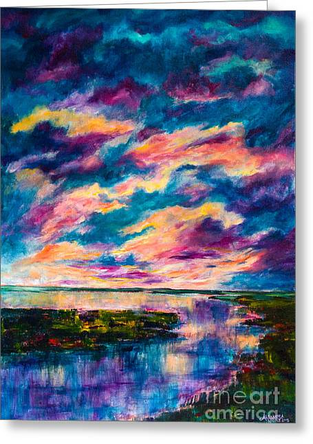 Sunset Scenes. Paintings Greeting Cards - Tranquility Greeting Card by Alexandra Nicole Newton