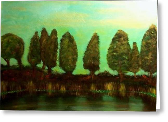 Fishing Creek Greeting Cards - Tranquility Greeting Card by Ed Akers