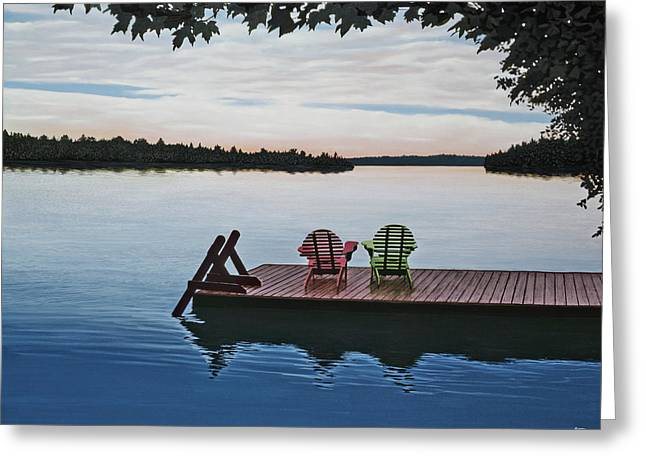 Tranquility Greeting Card by Kenneth M  Kirsch