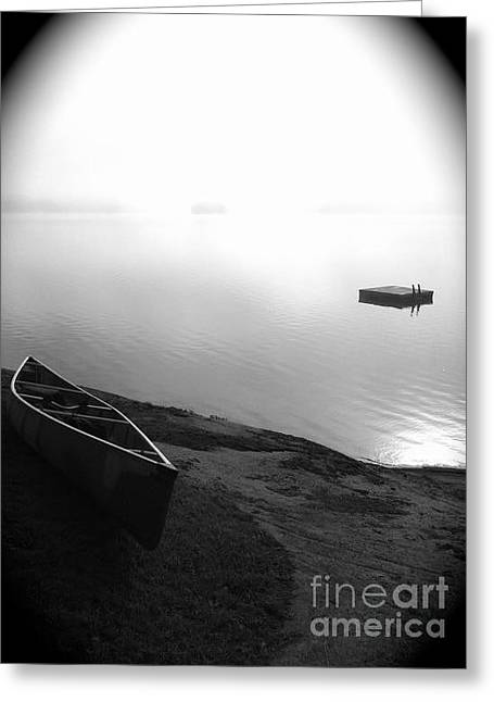 Canoe Photographs Greeting Cards - Tranquility  Greeting Card by Noelle  Short