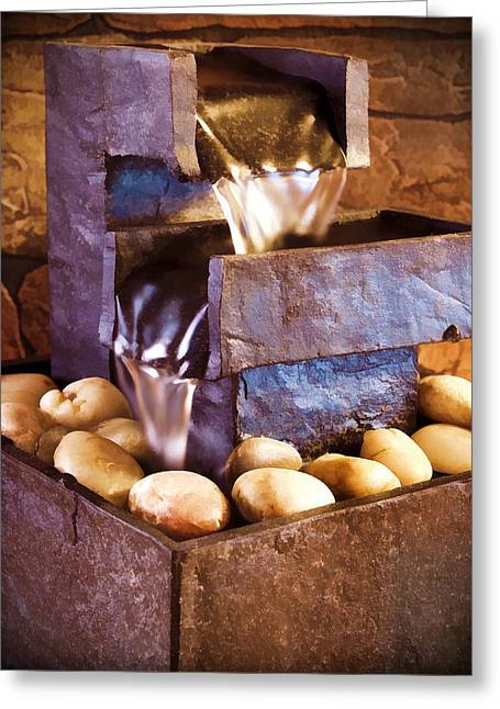 Flowing Fountain Greeting Cards - Tranquility Greeting Card by Ricky Barnard