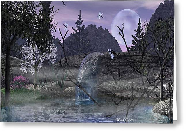 Whiteoak50 Greeting Cards - Tranquility Spot Greeting Card by Eva Thomas