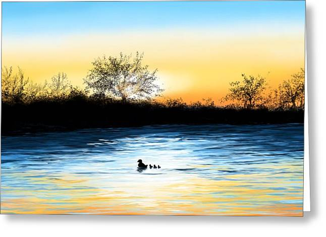 Tranquility Greeting Card by Veronica Minozzi
