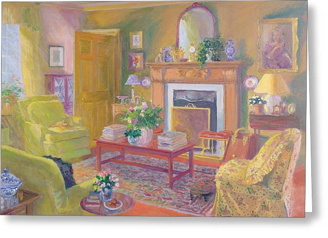 Interior Still Life Paintings Greeting Cards - Tranquility Greeting Card by William Ireland