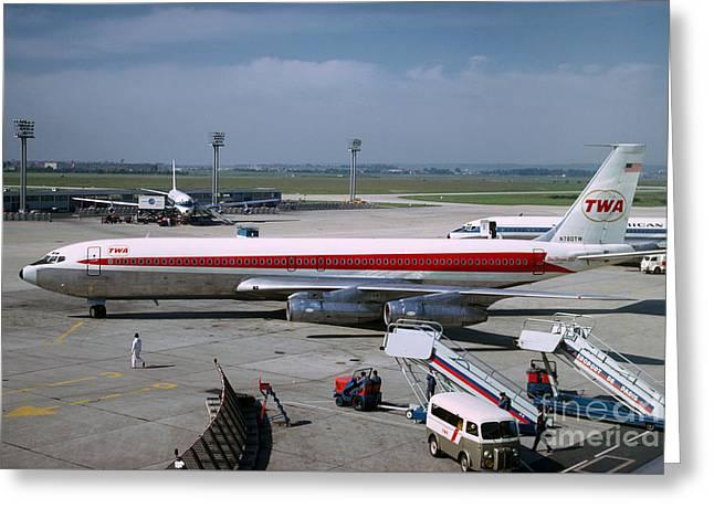 Trans World Airlines Twa Boeing 707 N780tw Greeting Card by Wernher Krutein