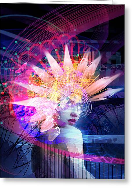 Surrealism Mixed Media Greeting Cards - Transcendance Greeting Card by Philip Straub