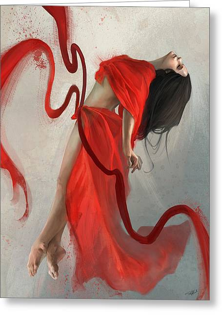 Dancing Greeting Cards - Transcended Greeting Card by Steve Goad